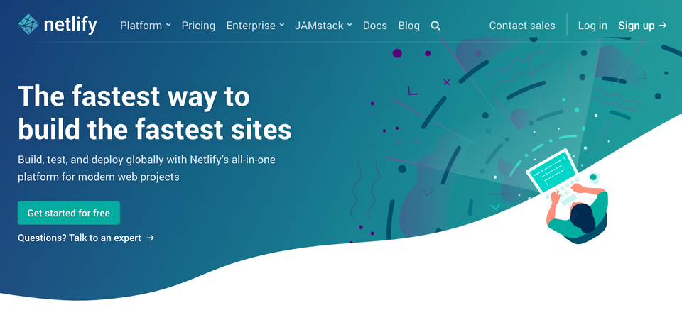 The Netlify website